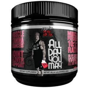 5% Rich Piana 5% Nutrition Alldayyoumay | 30 Servings | Watermelon | Strength & Joint Support | 10:1:1 BCAA Ratio | BCAA & Essential Amino Acids
