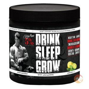 5% Rich Piana 5% Nutrition Drink Sleep Grow | 30 Servings | Lime & Lemonade | Intra-Workout | Recovery Aid | Glutamine Supplements | Night-Time