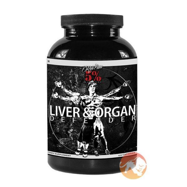 5% Rich Piana 5% Nutrition Liver & Organ Defender | 270 Capsules | Cycle Support | Properly Dosed Ingredients
