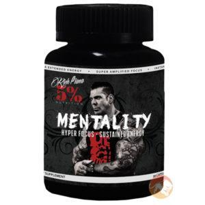 5% Rich Piana Rich Piana 5% Nutrition Mentality | 60 Capsules | Study/Work Aid | Nootropic Supplements & Boost Mental Performance | Greater Memory