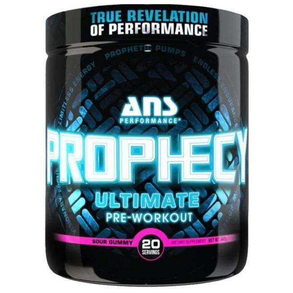 ANS Performance Prophecy | 20 Servings | Sour Gummy | High Energy Pre-Workout | Pre-Workout Supplements | Contains 7 Clinically Dosed Ingredients