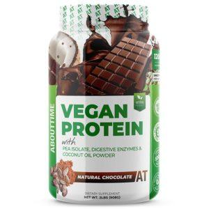 AboutTime Vegan Protein | 907g | Chocolate | Vegan Protein Powder | Healthy, All Natural Vegan Protein