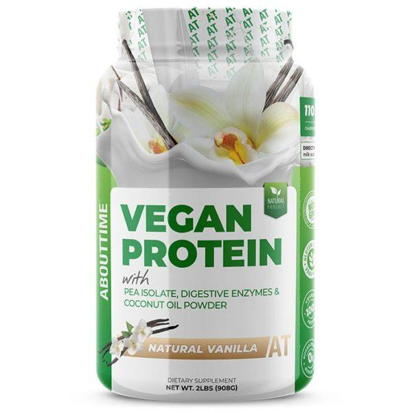AboutTime Vegan Protein | 907g | Vanilla | Vegan Protein Powder | Healthy, All Natural Vegan Protein