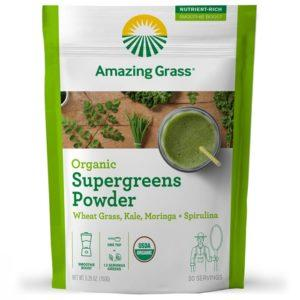 Amazing Grass Mushroom Powder | 30 Servings | Supergreens | Vegan Superfoods Supplements | Only 15 Calories Per Serving