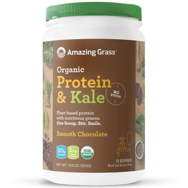 Amazing Grass Protein & Kale | 15 Servings | Smooth Chocolate | Protein Powder | Vegan Protein Powder | Contains 7 Nutritious Greens