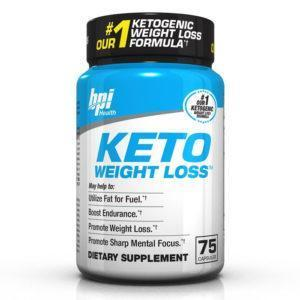 BPI Sports Bpi Keto Weight Loss | 75 Caps | Fat Burner | Enhanced Mental Focus | Fat Burners | Contains Bhb For Ketosis