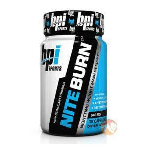 BPI Sports Nite Burn | 30 Capsules | Non-Stim Fat Burner | Non-Stimulant Fat Burners | Promotes Better Fat Loss 24 Hours A Day