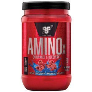BSN Amino X Intra-Workout | 30 Servings | Blue Raspberry | Recovery Aid | BCAA & Essential Amino Acids | Enhances Muscle Recovery