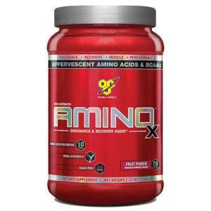 BSN Amino X Intra-Workout | 70 Servings | Fruit Punch | Recovery Aid | BCAA & Essential Amino Acids | Enhances Muscle Recovery