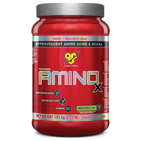 BSN Amino X Intra-Workout | 70 Servings | Green Apple | Recovery Aid | BCAA & Essential Amino Acids | Enhances Muscle Recovery