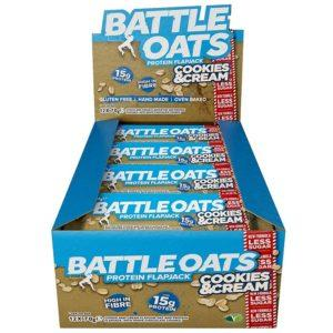 Battle Snacks Protein Flapjack 12 Flapjacks Cookies and Cream