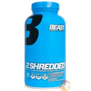 Beast Sports Nutrition 2 Shredded Fat Burner | 120 Capsules | Fat Burners | Burns Body Fat Through Thermogenesis