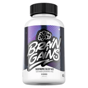 Brain Gains Sleep Aid | 120 Capsules | Improve Sleep & Cognition | Sleep Aid Supplements | Promotes Better Sleep & Recovery