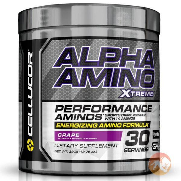 Cellucor Alpha Amino XTreme | 30 Servings | Fruit Punch | Pre-Workout | BCAA & Essential Amino Acids | Intra-Workout Amino Acid Drink
