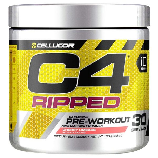 Cellucor C4 Ripped | 30 Servings | Cherry Limeade | Fat Burner | Mental Focus | Fat Burners | Enhanced Fat Loss Combined With The Power To Improve