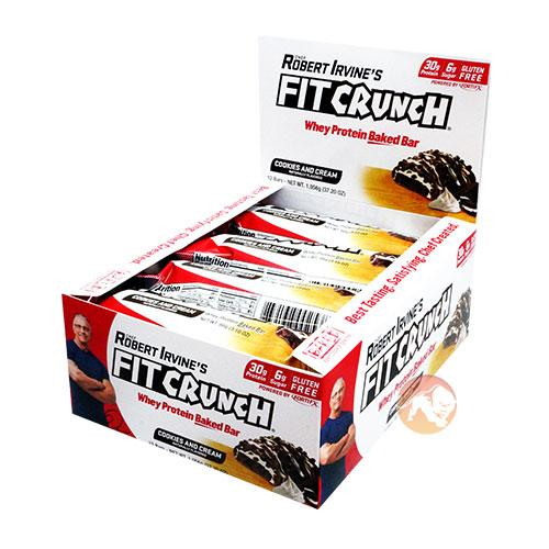 Chef Robert Irvine Fortifx Fit Crunch Protein Bars | 12 x 88g | Chocolate Chip Cookie Dough | 6 Layers - A World First For Protein Bars