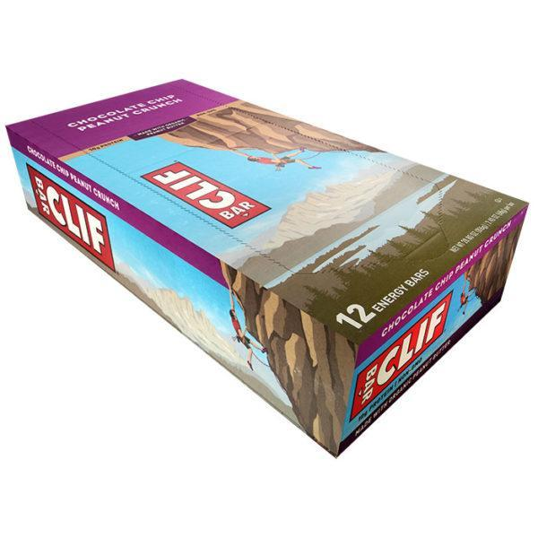 Clif Bar | 12 Bars | Chocolate Chip Peanut Crunch | Tasty Vegan Protein Bar | All Flavours | Protein Bars | Good Source Of Protein & Fibre