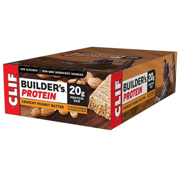 Clif Bar Builder's Bar | 12 Bars | Crunchy Peanut Butter | Protein Bar | Protein Bars | Contains Only Wholesome, Natural Ingredients