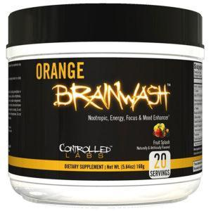 Controlled Labs Orange Brainwash | 20 Servings | Sour Apple Rush | Nootropic Supplement | Pre-Workout Supplements | Razor Sharp Focus & Mental Clarity
