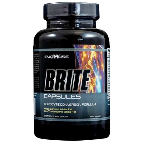 Evomuse Brite | 120 Capsules | Stimulant-Free Natural Fat Burner | Non-Stimulant Fat Burners | Ground Breaking Natural Fat Burner Like Nothing Else