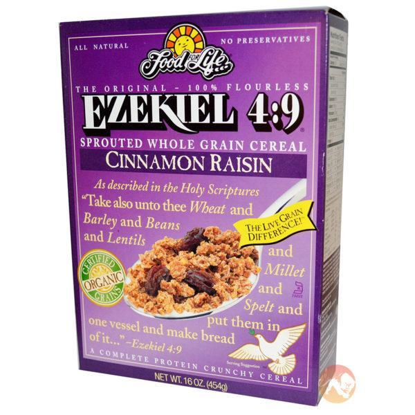 Food For Life Ezekiel 4:9 Whole Grain Cereal Cinnamon Raisin | 454g | Protein Breads & Pastas | Made from Only Sprouted Grains