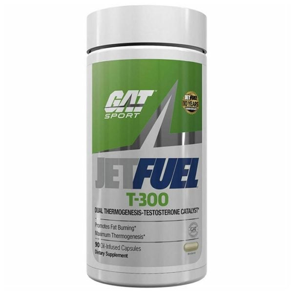 GAT Jetfuel T-300 | 90 Capsules | Thermogenic | Fat Burners | Helps To Support Fat Burning & Balancing T Levels
