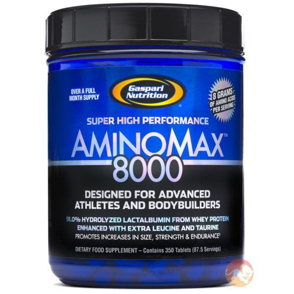 Gaspari Nutrition Aminomax 8000 | 325 Tablets | Post-Workout Supplements | Contains 8g Of Amino Acids Per Serving