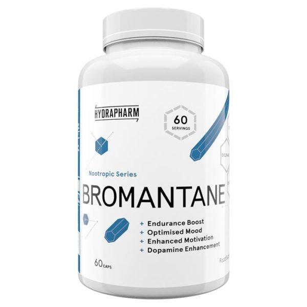 Hydrapharm Bromantane | 60 Capsules | Nootropic | Nootropic Supplements & Boost Mental Performance | Endurance Boosting Qualities
