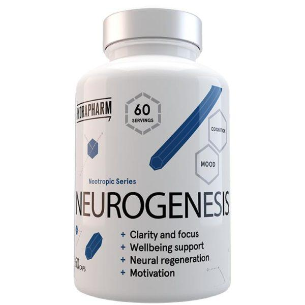Hydrapharm Neurogenesis | 60 Capsules | Memory Nootropic | Nootropic Supplements & Boost Mental Performance | World Exclusive Release Of Hydrpharm's