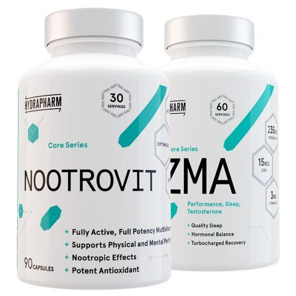 Hydrapharm Nootrovit | 90 Capsules | Nootropic & Multivitamin | Nootropic Supplements & Boost Mental Performance | Fully Active, Full Potency