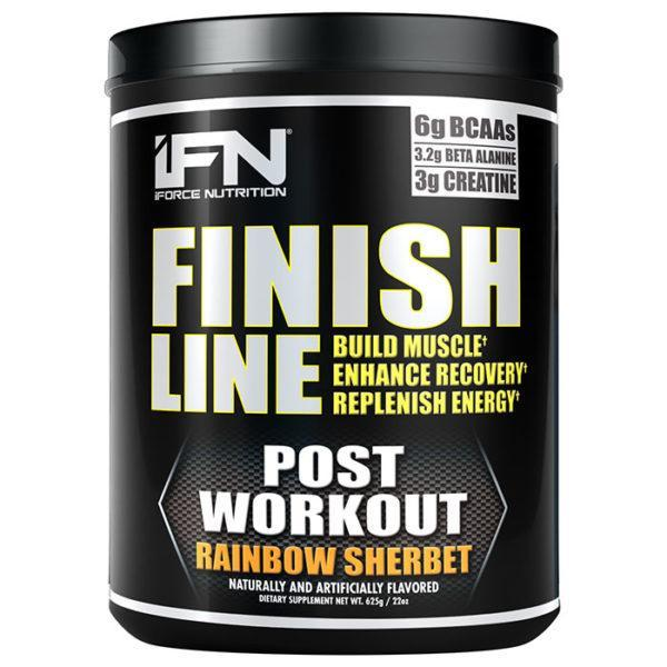 IForce Nutrition Finish Line | 25 Servings | Rainbow Sherbert | Post-Workout Supplement | BCAA & Essential Amino Acids | Sets A New Standard In