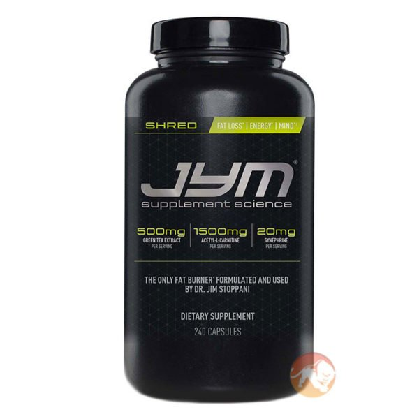 JYM Supplement Science Shred Jym | 240 Caps | Fat Burner | Fat Burners | Natural Fat Burner With Six Ingredients Working In Synergy