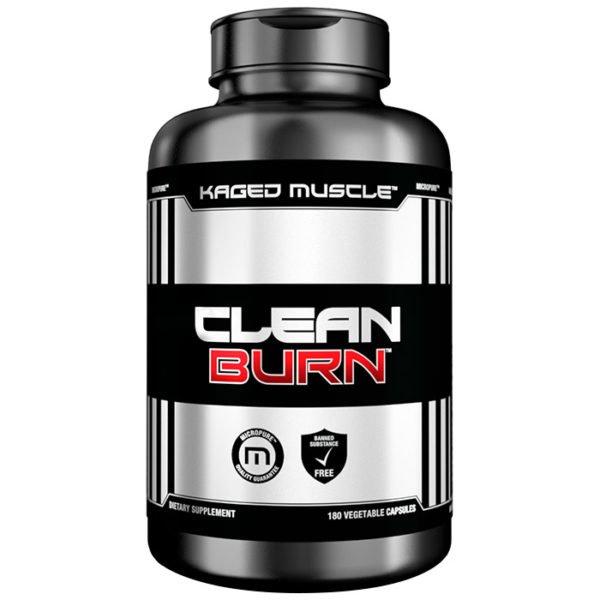 Kaged Muscle Clean Burn   180 Capsules   Fat Burner   Green Tea Supplements   Stimulant Based Fat Burning Formula