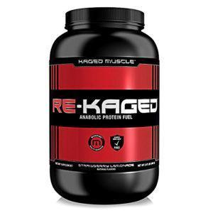 Kaged Muscle Re-Kaged | 20 Servings | Strawberry Lemonade | Post Workout Supplement | Protein Powder | 28g Protein Per Serving