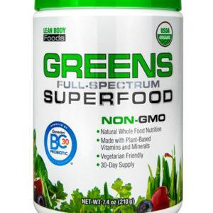 Labrada Greens Full Spectrum Superfood | 210g | Unflavoured | Organic & GMO-Free | Superfoods Supplements | Easy Way To Get Your Daily Requirement Of