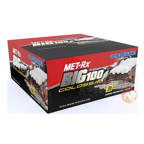 MET-Rx Big 100 Colossal Protein Bars | 9 Bars | Peanut Butter Caramel | Meal Replacement | Ideal For Athletes Looking To Pack On Size