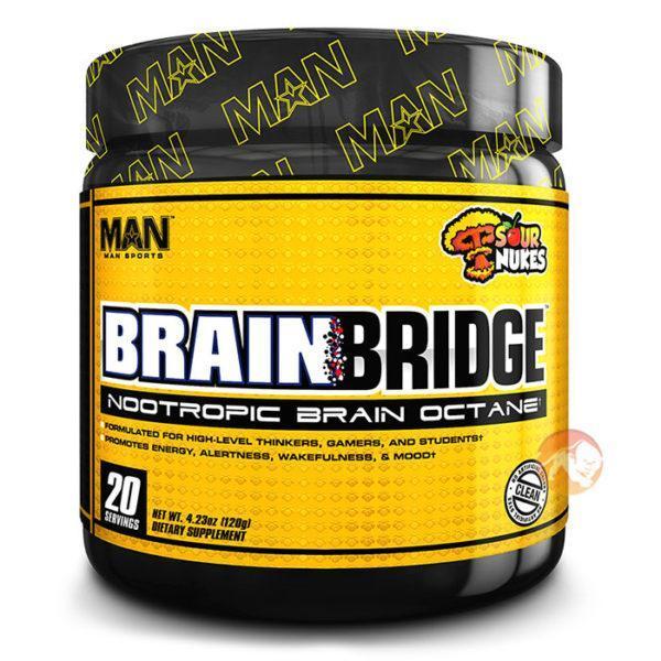 Man Sports Brainbridge Nootropic | 20 Servings | Sour Nukes | Improve Mental Focus | Nootropic Supplements & Boost Mental Performance | Nootropic For
