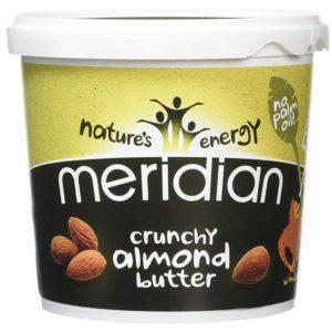 Meridian Crunchy Almond Butter | 1kg | Nut Butter | Nut Butters & Spreads | 100% Natural Pure Almonds