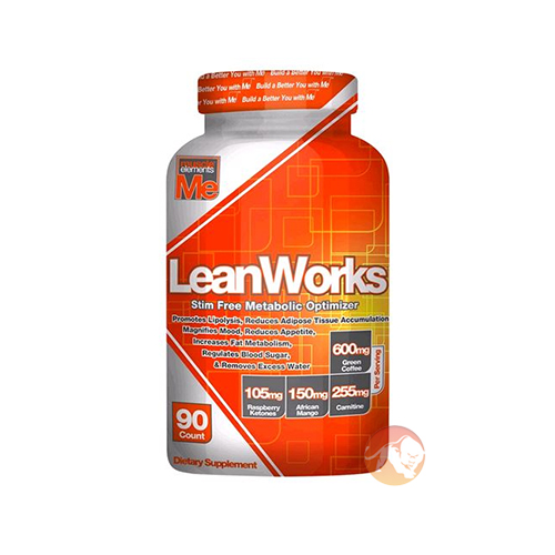 Muscle Elements Leanworks Fat Burner | 90 Capsules | Non-Stimulant Fat Burners | Fat Loss Via Three Unique Angles