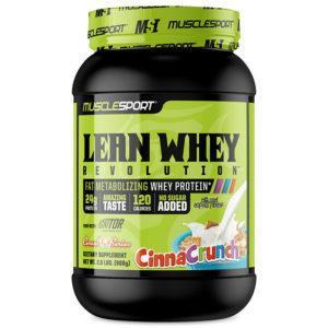 Muscle Sport Musclesport Lean Whey Revolution | 908g | Strawberry Creme | Fat Burning Protein Powder | Whey Protein Powder | Simultaneously Burn Fat
