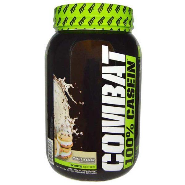 MusclePharm Combat Casein Powder | 908g | Cookies & Cream | Rebuild & Repair Muscles | Protein Powder | Slow Digesting Protein