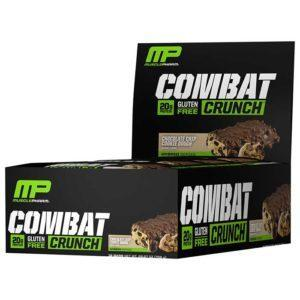 MusclePharm Combat Crunch Bars | 12 Bars | Chocolate Chip Cookie Dough | Build Lean Muscle Fast | Protein Bars | The Number 1 Selling Protein Bar At