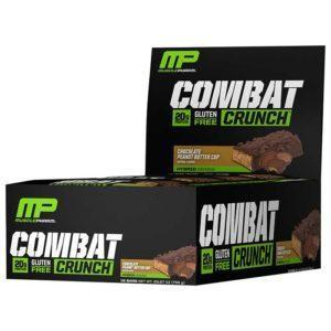 MusclePharm Combat Crunch Bars | 12 Bars | Chocolate Peanut Butter Cup | Build Lean Muscle Fast | Protein Bars | The Number 1 Selling Protein Bar At