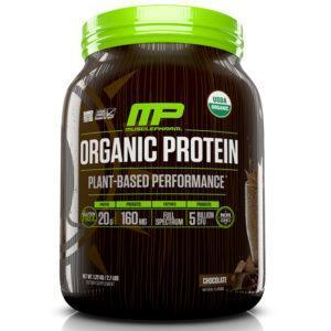 MusclePharm Organic Plant-Based Protein | 15 Servings | Chocolate | Vegan Friendly | Vegan Protein Powder | All-Natural Plant-Based Organic Protein