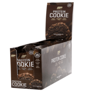MusclePharm Protein Cookie | 12 Cookies | Triple Chocolate | Soft Baked | Protein Bars | 16g Of Protein Per Cookie