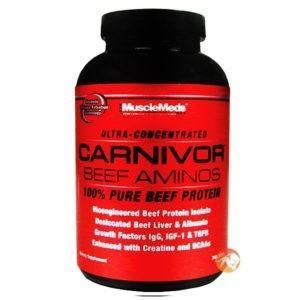 Musclemeds Carnivor Beef Aminos | 300 Tablets | Protein Powder | Helps Muscle Building & Recovery