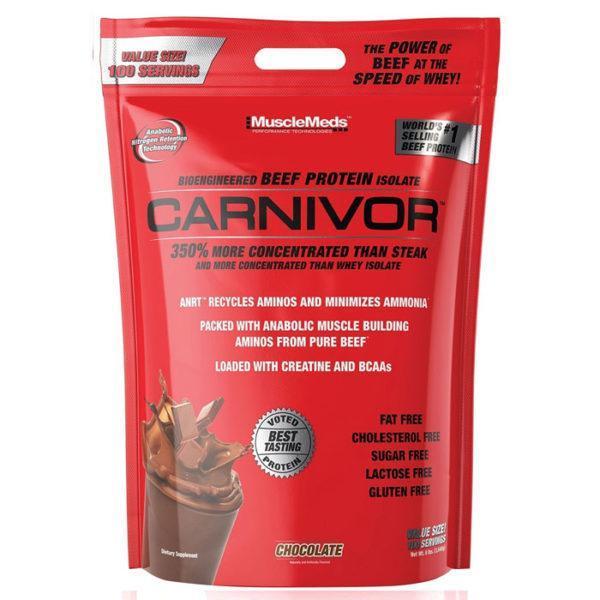 Musclemeds Carnivor Beef Protein   100 Servings   Vanilla Caramel   Protein Powder   Beef Protein Isolate
