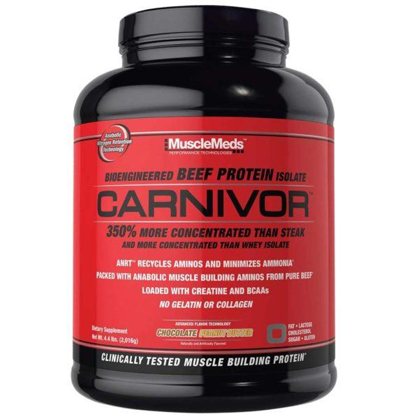 Musclemeds Carnivor Beef Protein | 56 Servings | Chocolate Peanut Butter | Protein Powder | Beef Protein Isolate