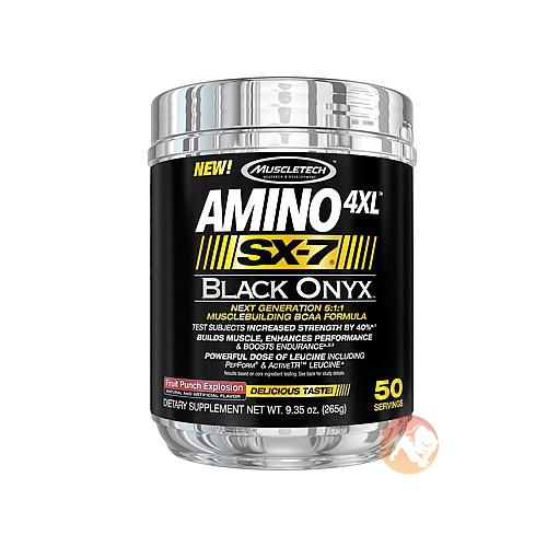Muscletech Amino 4Xl Sx-7 Black Onyx | 50 Servings | Fruit Punch Explosion | BCAA & Essential Amino Acids | Research Proven To Work In 12 Week Study