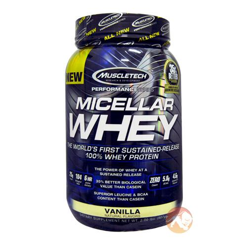 Muscletech Micellar Whey | 907g | Vanilla | Protein Powder | Exclusive Muscletech Ingredient Which Combines The Benefits Of Whey & Casein In One